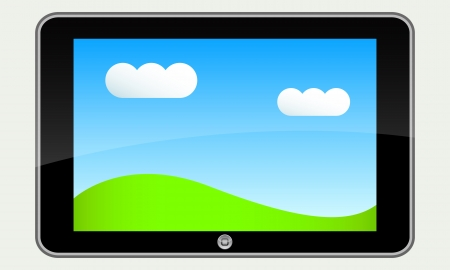 tablet pc nature Stock Photo - 17525494