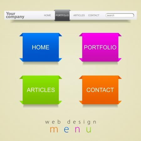 Web design abstraction menu Vector