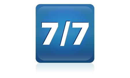 expulsion: Seven through seven icon  77 button