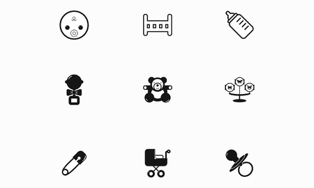 restless: Set of black and white icons Babis toys