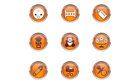 set of baby buttons toys Vector