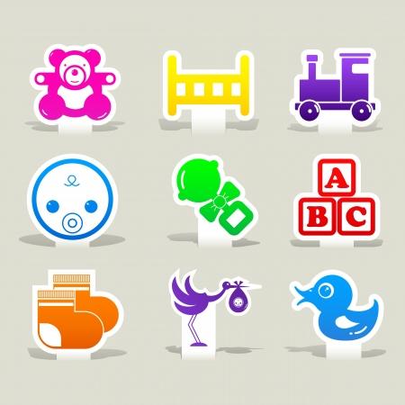 lullaby: iconos del beb� de papel