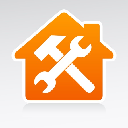 Badge House service Vector
