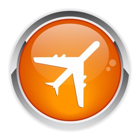 avion: bouton internet avion Illustration