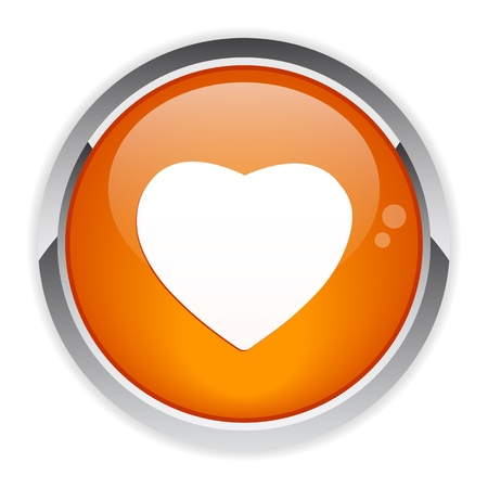 coeur: bouton internet coeur icon Illustration