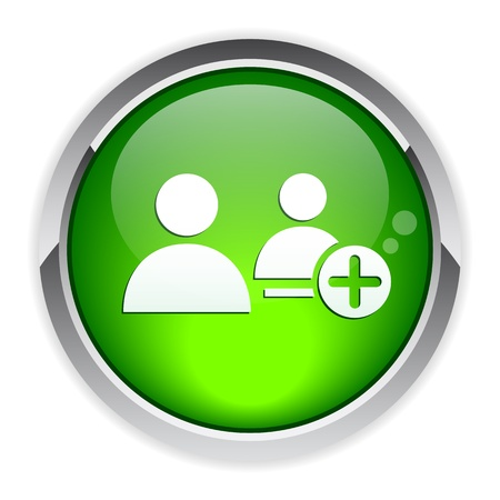 bouton internet contact Ilustrace