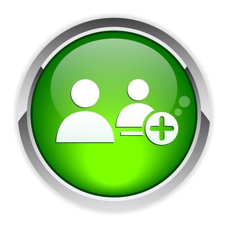 bouton internet contact Illustration