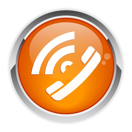 bouton internet phone Illustration