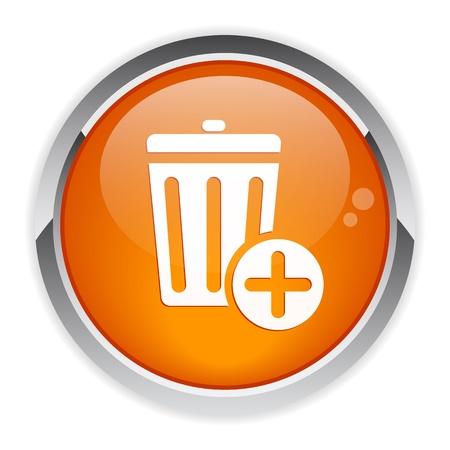 detritus: bouton internet poubelle