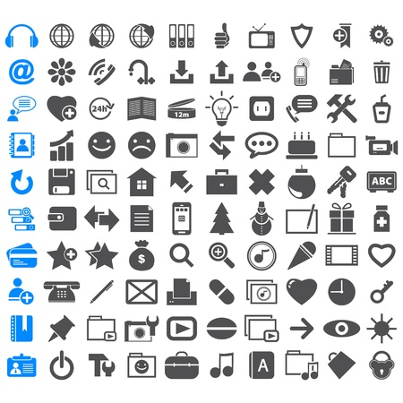 heal new year: Business Icons different signs Illustration
