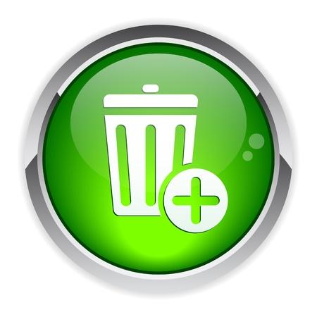 detritus: bouton internet poubelle icon