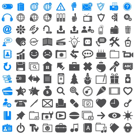 Business Icons Collection Office Vector