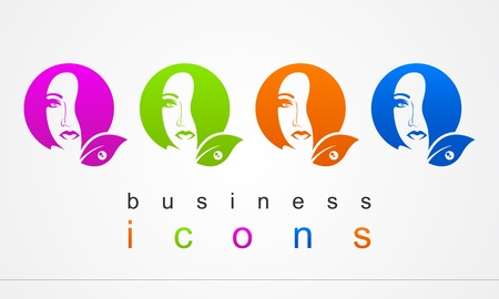 Business logo beauty salon Vector