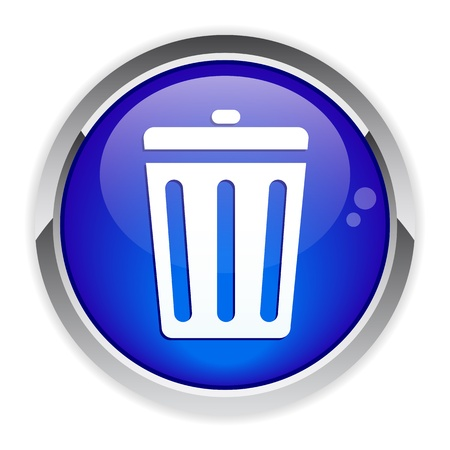 button garbage can icon