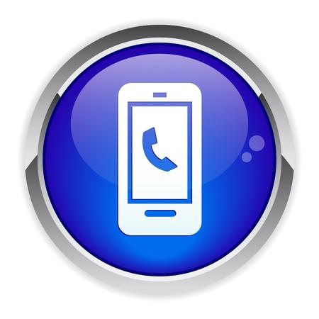 button Internet phone icon