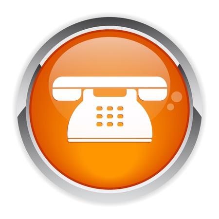 button internet phone symbol