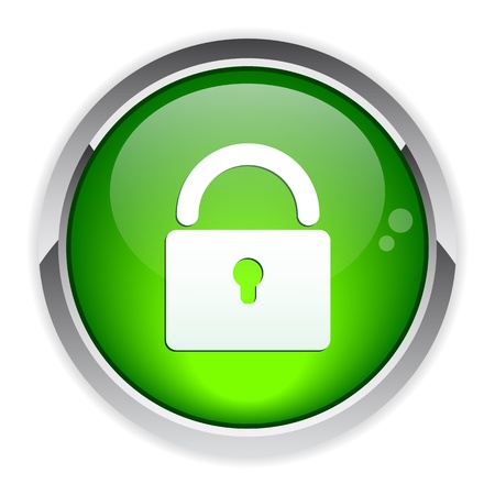 padlock: Button Internet Security Illustration