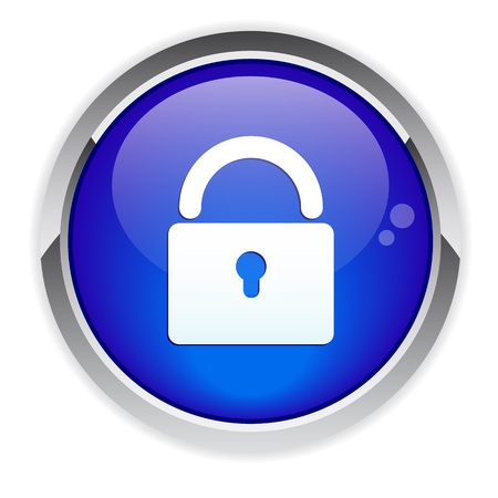 Button online security icon