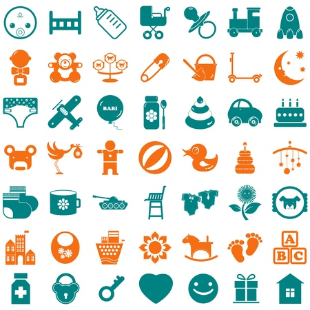 Sammlung Baby boy Symbole Vektorgrafik