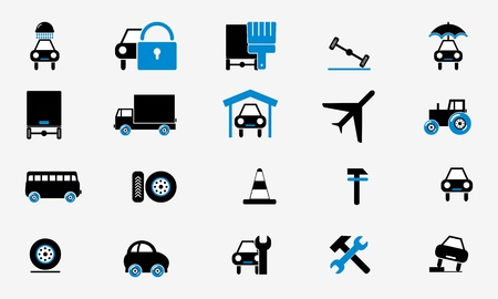 Collection cars icons Stock Vector - 19439632