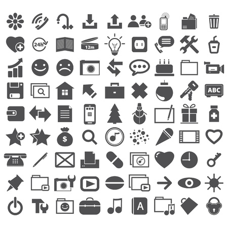 heal new year: collection different internet icons