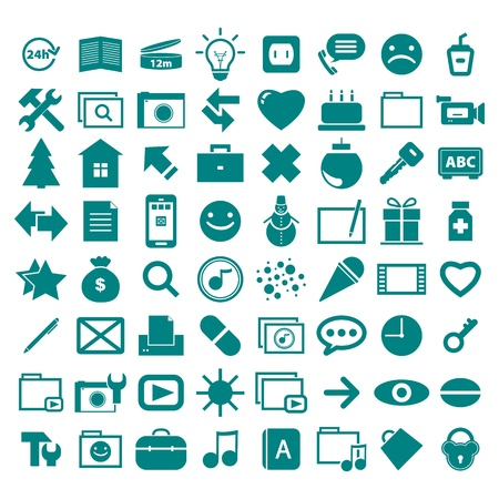 heal new year: collection different pictograms