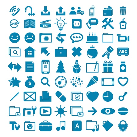 heal new year: collection different web icons