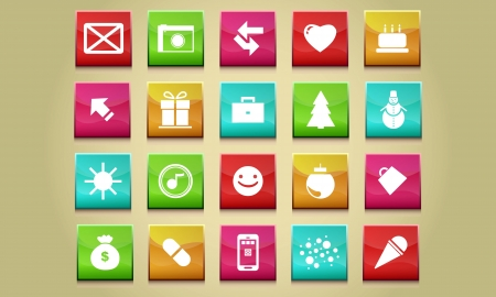 Button collection of icons Stock Vector - 19439670