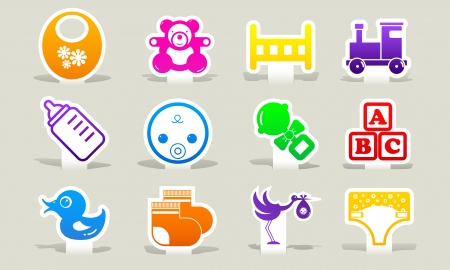 color icons baby Vector