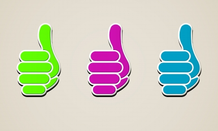 button thumb up Vector