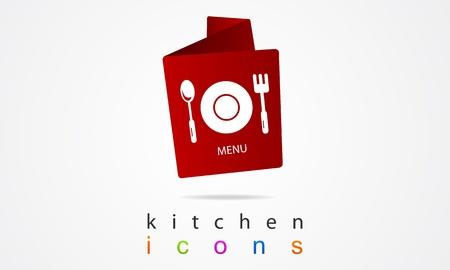 Kitchen menu design  Illustration