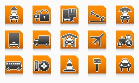 Auto service folders Vector