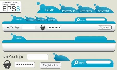 website buttons: Web design menu
