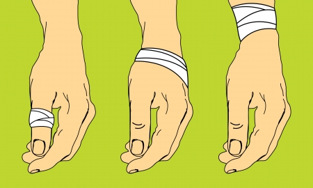 First aid for sprains Illustration
