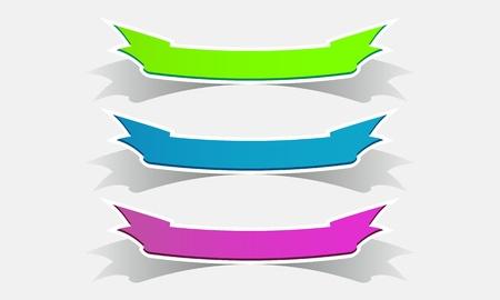 filling folder: Set of colored ribbons
