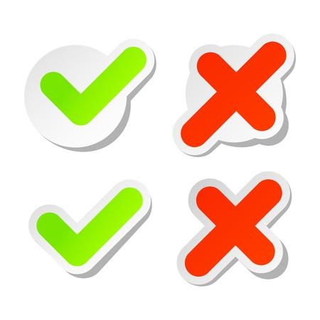 Flag stickers Ilustrace