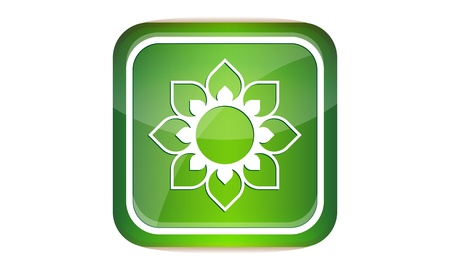Button flower Vector