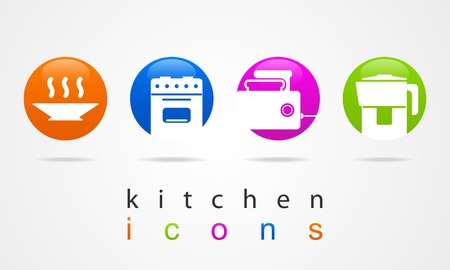 kitchen buttons Vector