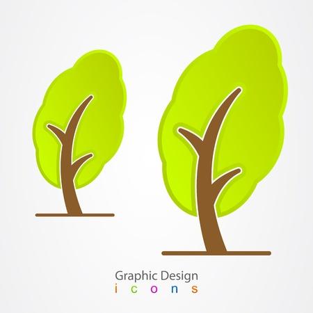 graphic design tree Stock Vector - 19557174