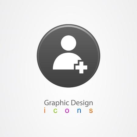 graphic design contact icon button Stock Vector - 19557040