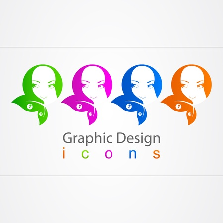 graphic design element girl Stock Vector - 19557185