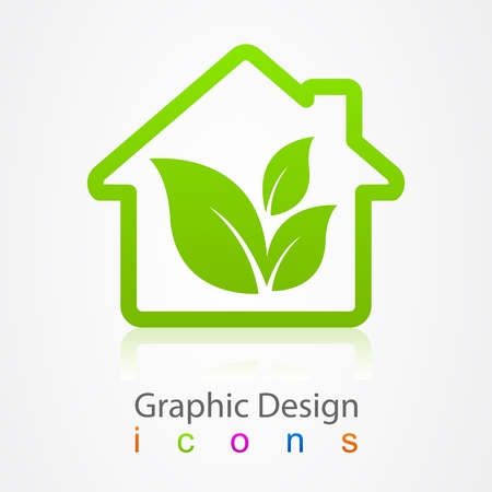 graphic design house Icon Vector