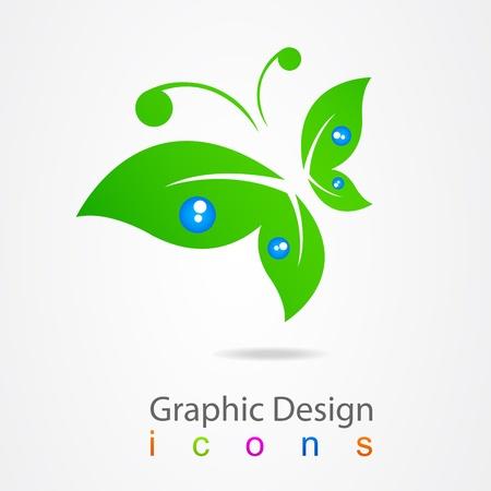 fermo: progettazione grafica logo farfalla