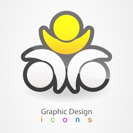 graphic design people Vector