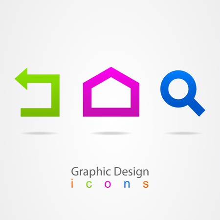 graphic design set web icons
