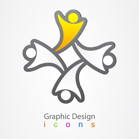 Graphic design social network icon Vector