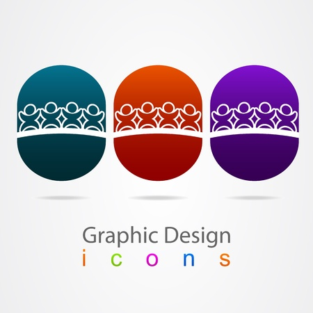 graphic design social networking Vector