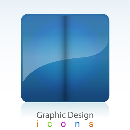 hoping: graphics design abstract form button