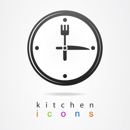 uhr icon: K�chenuhr icon