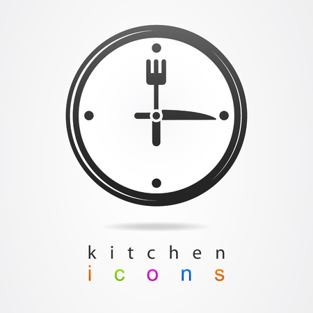 kitchen clock icon Vector